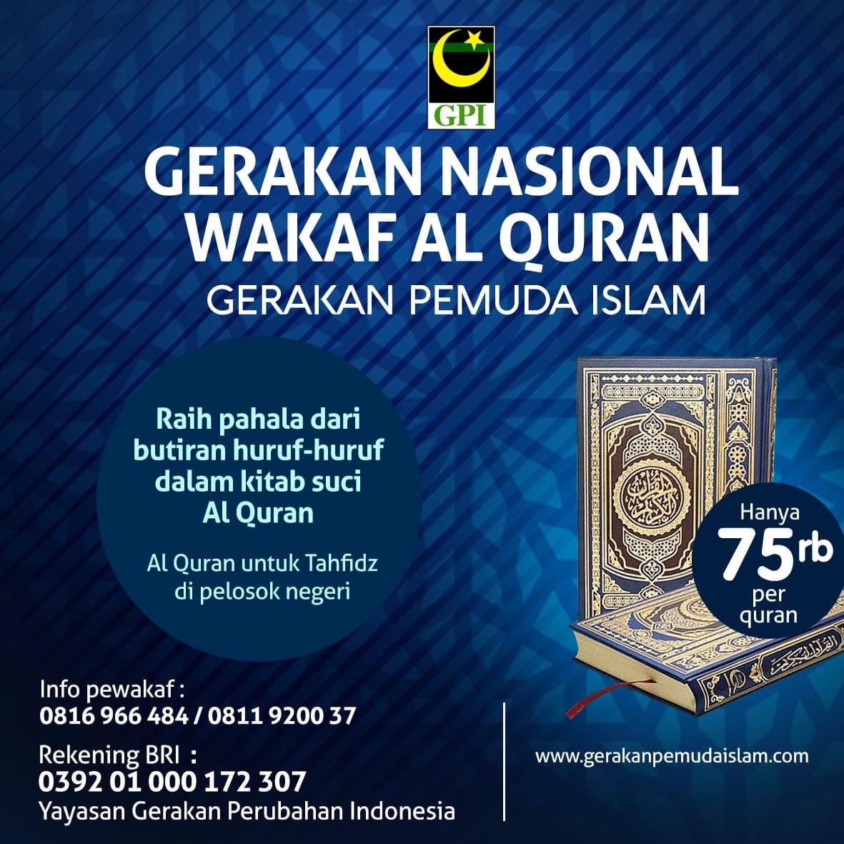 400 x 350 Program Nasional Gerakan Wakaf Al-Quran GPI